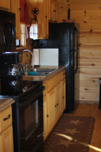 Kitchen in the cabin.